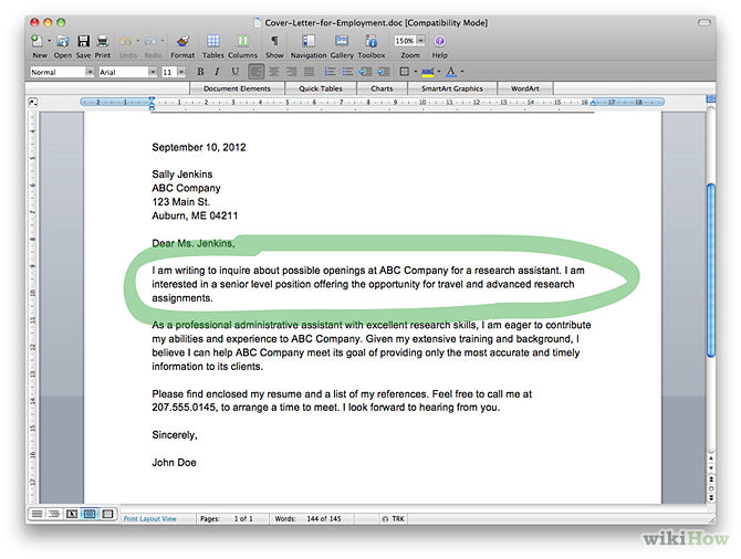 steps to writing a great cover letter